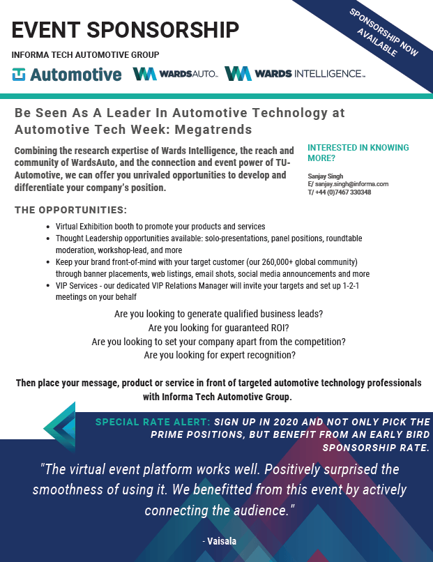 Automotive Tech Week Megatrends